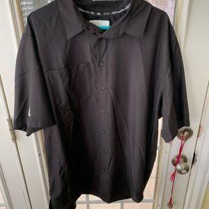 Men's XL Adidas Button Up Short Sleeve Shirt